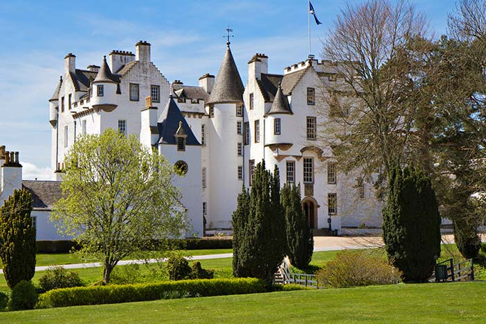 Castle in Blair Atholl, Scotland