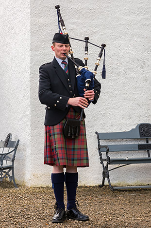Man playing Bagpipes, Scotland