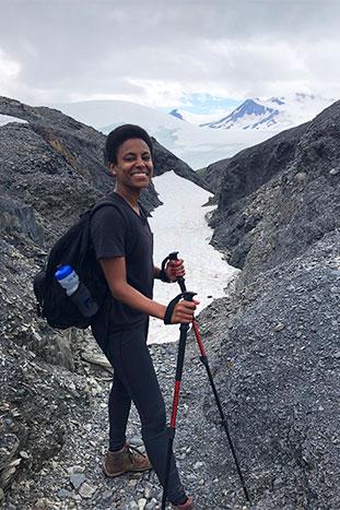 Woman Hiking in Alaska