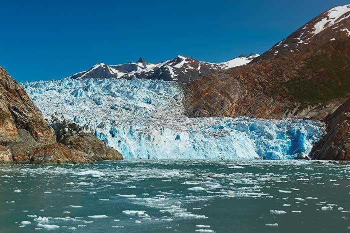Glacial ice shelf in Alaska