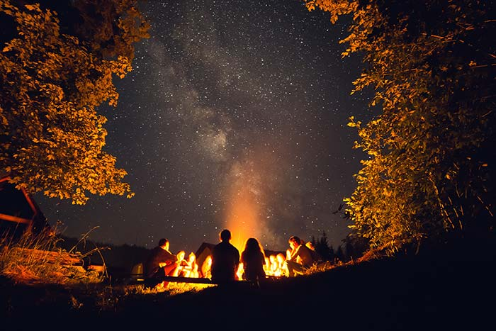 Families around the campfire