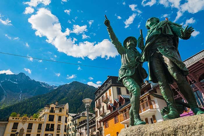 Statues in Chamonix