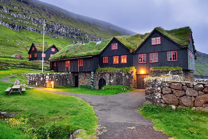 Rustic Hillside Hotel in Iceland