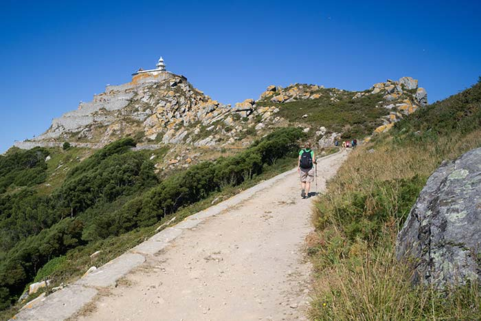 Hiking in Cies Islands, Spain