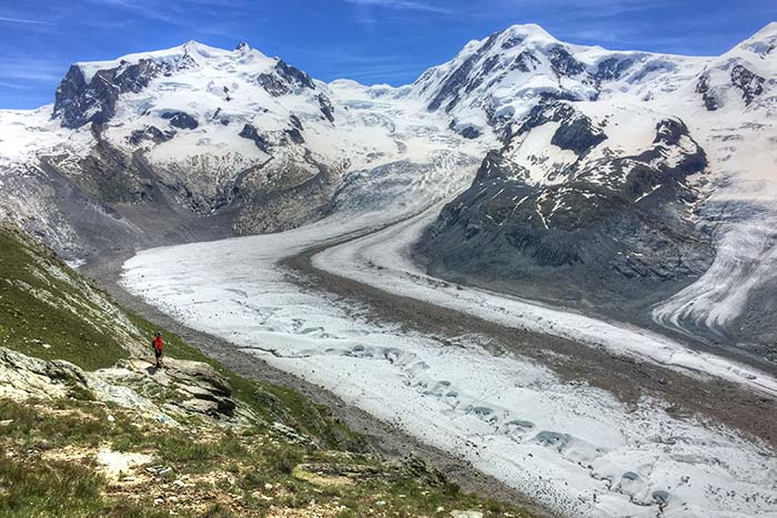 Monte Rosa massif and glacier, Swiss Alps