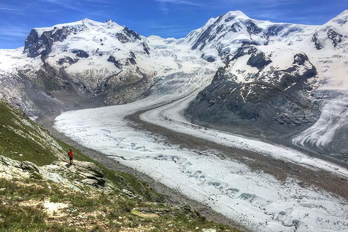 Monte Rosa massif and glacier, Swiss Alps