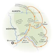 Glacier Montana Map