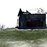 Pictures for Walls featuring a black barn on a country hillside