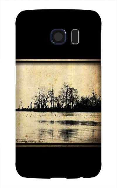 Product, Cellphone Case: The Hinterlands - Silhouette of island in Lake Guntersville, Alabama on the Tennessee River