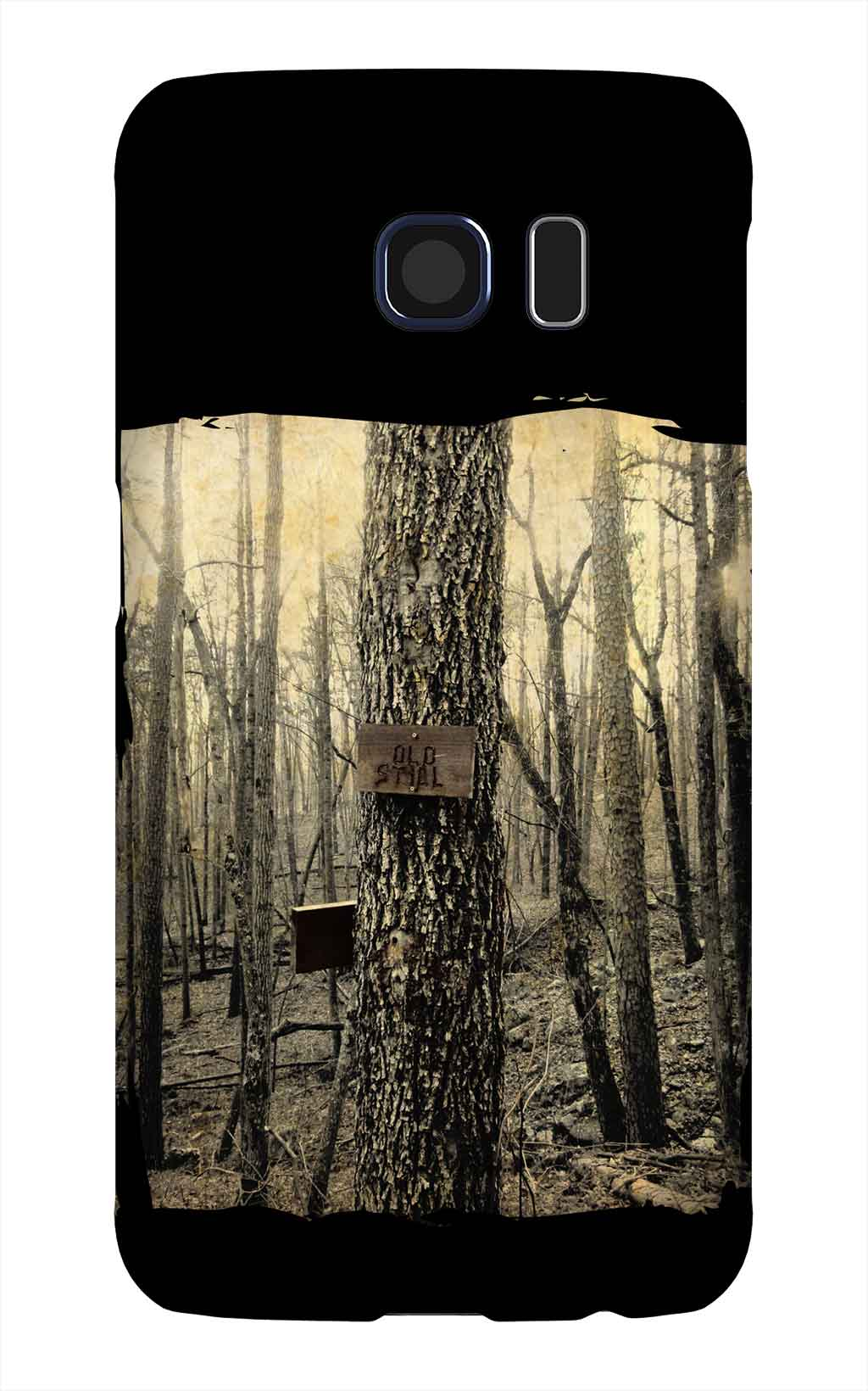 Product, Cellphone Case: Old Still - Tree with sign that says Old Still in Lake Guntersville State Park, Alabama