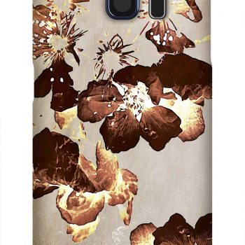 Product, Cellphone Case: Possibility - Brown blackberry blossoms on beige background