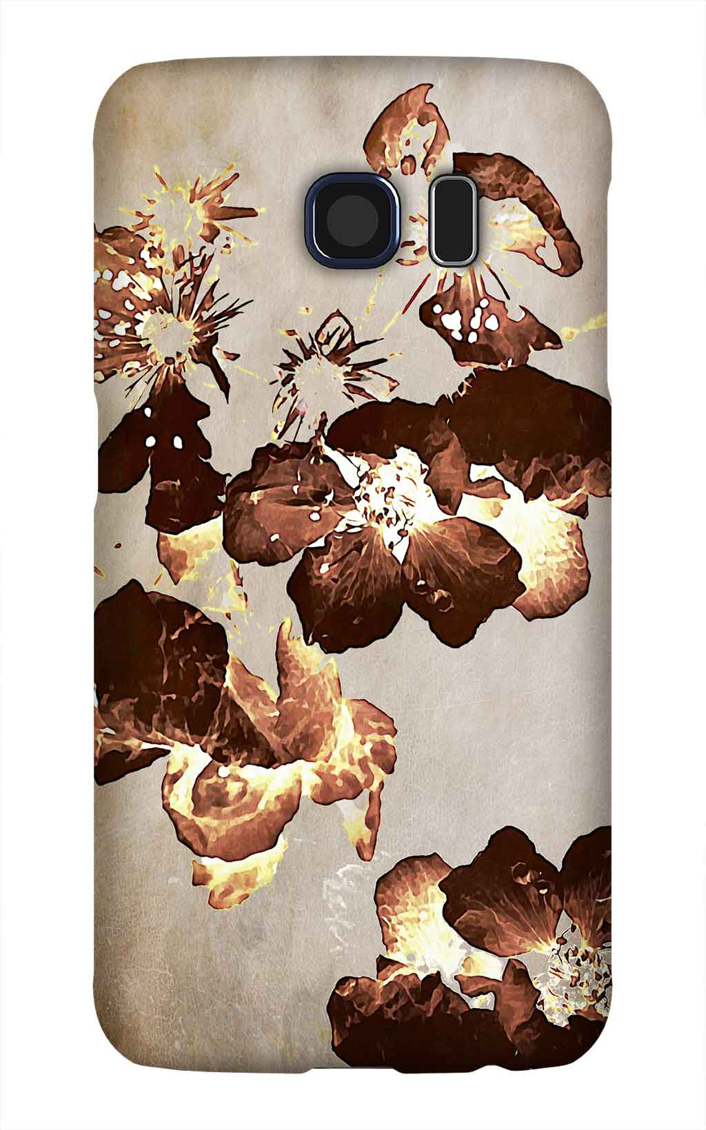 Product, Cellphone Case: Possibility – Brown blackberry blossoms on beige background