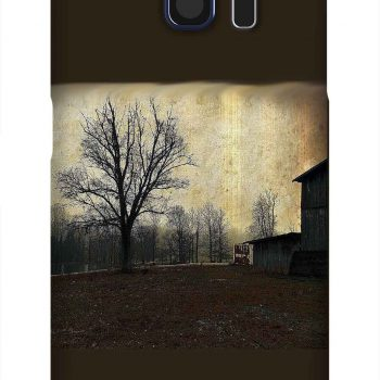 Product, Cellphone Case: The Tree - Antiqued horse barn with skeletal tree