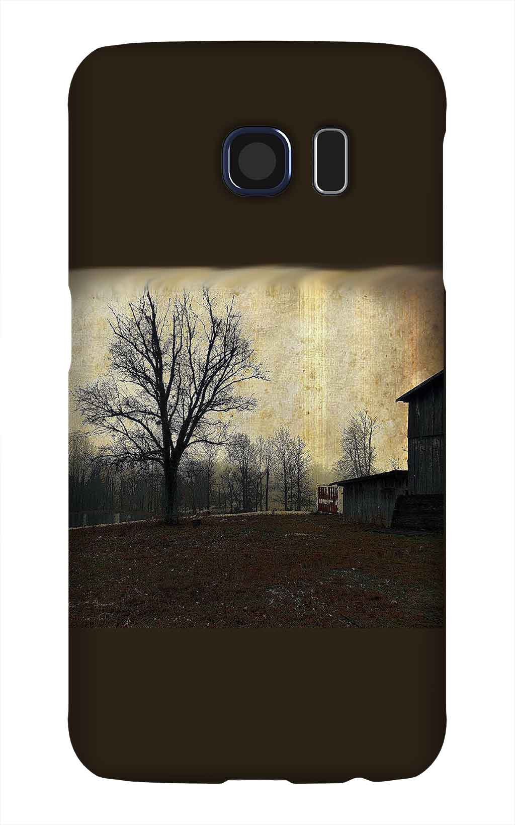 Product, Cellphone Case: The Tree – Antiqued horse barn with skeletal tree