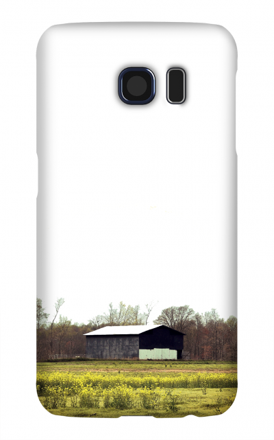 Product, Cellphone Case: In the Weeds - Tobacco barn in field of yellow flowers in Macon County Tennessee
