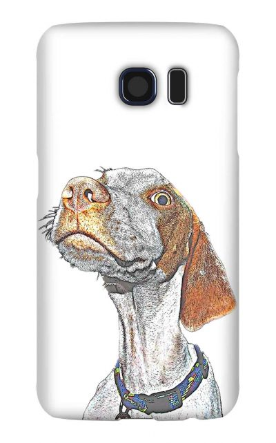 Product, Cellphone Case: Mr. Bo Bo - White English pointer with blue collar