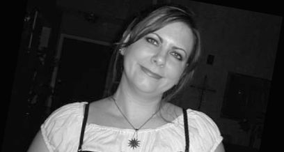 Black and white photo of Kristy LeBlanc, owner Backwater Stills