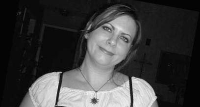 Black and white photo of Kristy LeBlanc, owner Backwater Stills