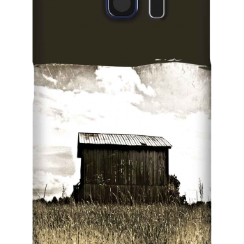 Cell Phone Case featuring On Top of the World, a barn in a golden field of hay