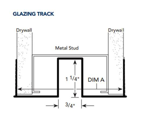 4 7/8 in x 10 ft Fry Reglet Clear Anodized Glazing Track