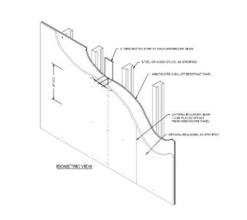 7/16 in x 4 ft x 10 ft ArmorCore Level 3 Bullet Resistant Fiberglass