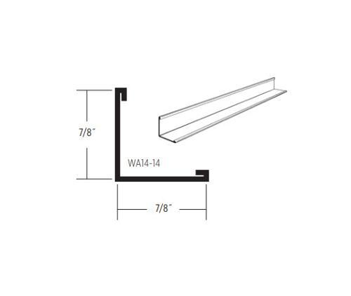 12 ft x 7/8 in CertainTeed Standard Wall Angle - WA14-14–WIW
