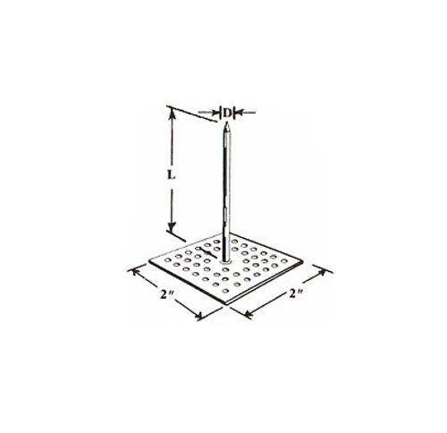 2 in x 2 in x 2 1/2 in x 12 Gauge GEMCO Perforated Base Insulation Hanger