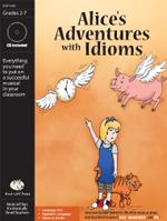 Musical Play: Alices Adventures with Idioms plays about idioms, language arts play, plays about similes, classroom resources idioms