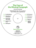 """The Case of the Missing Paragraph"" Audio Recording"