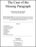 Sheet Music: Case of the Missing Paragraph