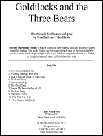 Sheet Music: Goldilocks and the Three Bears