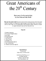Sheet Music: Great Americans of the 20th Century