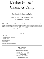 Sheet Music: Mother Goose%27s Character Camp