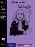 Musical Play: Shakespeare Unshackled language arts resource, language arts activity, Shakespeare activity, Shakespeare school activity