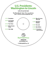 """U.S. Presidents: Washington to Lincoln"" Audio Recording"