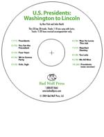 """U.S. Presidents: Washington to Lincoln"" Audio Recording"