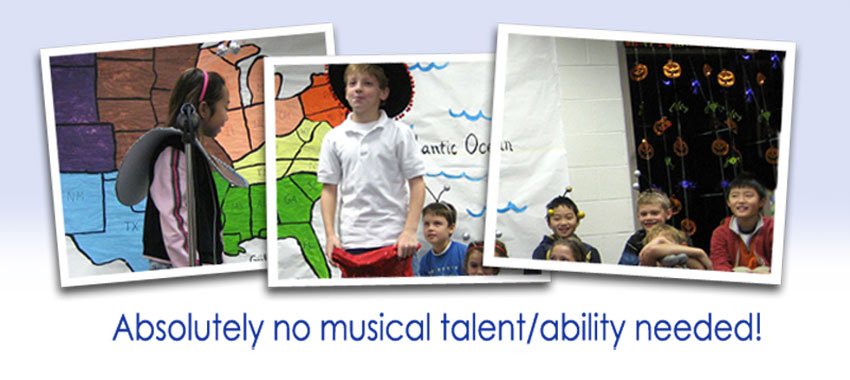 Absolutely no musical talent/ability needed!