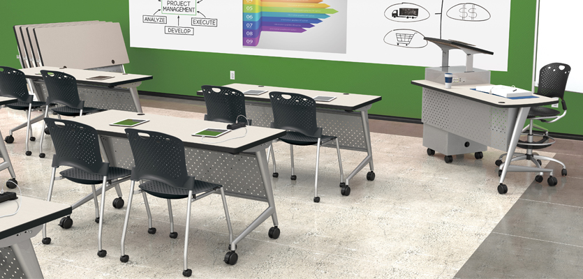 Classroom Tables and Teacher Station
