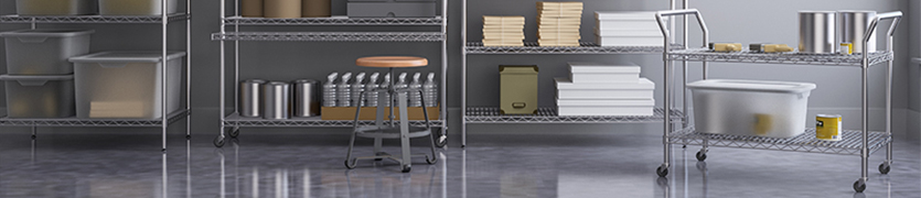 Wire and Stainless Storage Carts