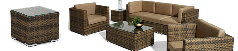 Patio Tables and modular outdoor seating