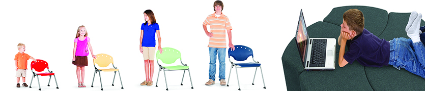 Student Classroom Chairs and Modular Seating