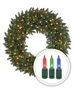 Multi-lit Christmas Wreaths