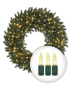 Clear-Lit Christmas Wreaths