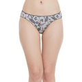 Low waist floral print bikini with medium coverage