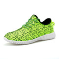 Cheap comfortable flyknit sports running shoes 2