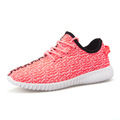 Cheap comfortable flyknit sports running shoes 3