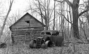Abandoned Car by Frank Brueske