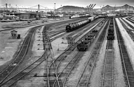 Port of Oakland Trainyard by Lee Grossman