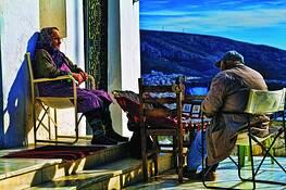 Old Caretaker at Lykabettos by Rao Gobburu