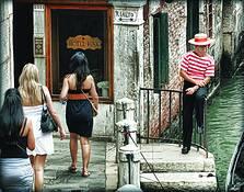 Observant Gondolier by Lynn Gregg
